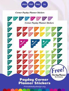 Planner Sticker Categories – Printables by Design Free Planner, Goals Planner, Budget Planner, Planner Pages, Happy Planner, Passion Planner, Planner Ideas, Monthly Planner, School Planner