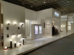 Faro Barcelona at Light+Building 2016 Museum Exhibition Design, Exhibition Stands, Lighting Showroom, Shop Lighting, Recycled Lamp, Electrical Stores, Showroom Ideas, Light Building, Shop Interior Design