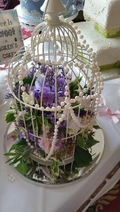 Birdcage flower display