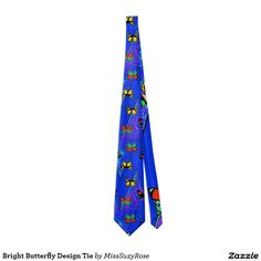 Bright Butterfly Design Tie