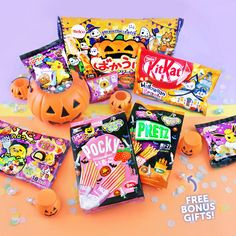 "⚡ Last chance to get the FREE Halloween BOO-nus gift! 👻 Subscribe to Japan Candy Box today and get one of these spooktacular party-sized bags with code ""BONUSPACK"" 🎃🖤✨"