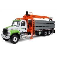 First Gear Diecast Collectible Freightliner Continental Building Products Fassi Boom Material Handler With Drywall Load Scale Toy Trucks, Chevy Trucks, Semi Trucks, Kids Power Wheels, Work Train, Easy Model, Train Engines, Ho Scale, Model Trains