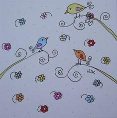 simpele vogeltjes / birds flowers /Design: A Second Life (The Netherlands)