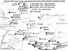 Map of DP Camps in American Zone