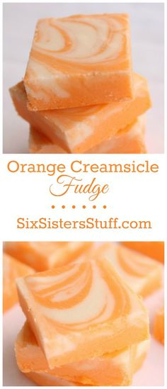 Orange Creamsicle Fudge Collage