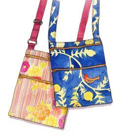 Sew a Berkeley Basics Bag - FULL SIZE PATTERN for cross-body hipster zip bag