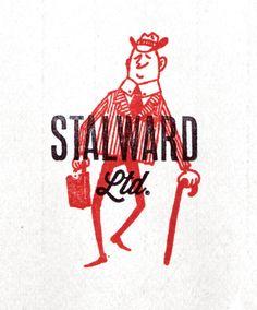 vintage illustration with logo type