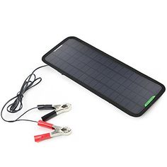 Don't get stuck this summer be sure to have one of these:18V 5W Portable Solar Car Battery Charger Bundle