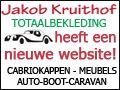 Button verandert voor Jakob Kruithof Totaalbekleding. Ze hebben een compleet nieuwe website. Jakob Kruithof Totaalbekleding voor al uw bootbekleding, cabriokappen, dashboardreparatie, camperbekleding, autobekleding, hemelbekleding, vrachtwagenstoelbekleding etcetera. http://koopplein.nl/middendrenthe/gebruikers/273607/jakob-kruithof-totaalbekleding