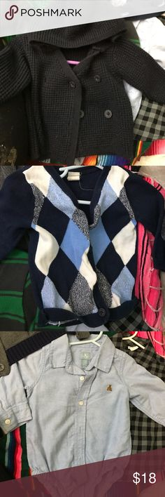 Lot of 5 infant tops sweaters cardigans All brand Gap Old Navy H&M and Zara Baby sizes 4-12 months Matching Sets