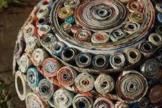 Resultado de imagen para cestos tejidos de papel reciclado