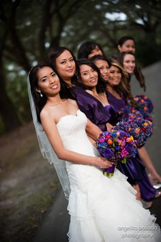 Maids in purple at Charlestowne Landing
