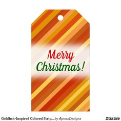 Shop for Merry Christmas gift tags & enclosure cards on Zazzle. Christmas Gift Tags, Merry Christmas, Goldfish, Stripes, Inspired, Pattern, Cards, Inspiration, Color