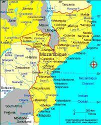 Mapa de Moçambique #mapa