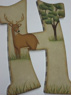 Camo Baby Nursery Handpainted Wall letters by cosseycreations, $14.98