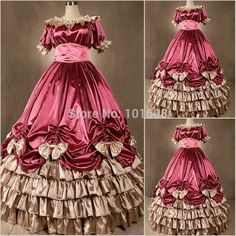 Victorian Corset Gothic/Civil War Southern Belle Ball Gown Dress Halloween dresses US 4-16 V-43 Alternative Measures