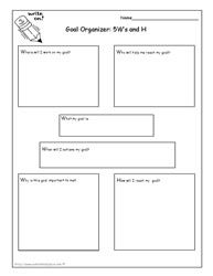 Printables Setting Goals Worksheets 1000 images about setting goals on pinterest academic success worksheets who what when where why how
