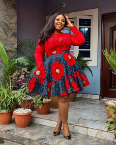 Latest African Fashion Dresses, African Fashion Ankara, African Dresses For Women, African Print Fashion, African Attire, African Blouses, Trendy Ankara Styles, African Print Skirt, Bodycon Dress With Sleeves