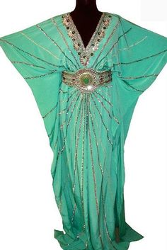 Ice Caftan Moroccan gown comes with adjustable belt :)