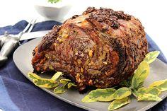 Herb-Crusted+Standing+Rib+Roast+with+Mustard-Horseradish+Sauce