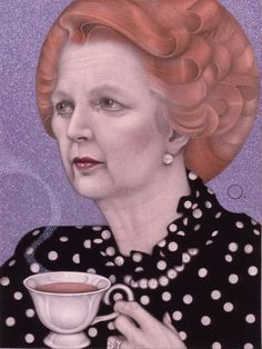'Margaret Thatcher' by American painter Mel Odom (1950- ).RIP