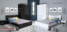 Dormitor complet alb sau negru lucios Letty modern Minimalism, Bed, Furniture, Design, Home Decor, Simple Lines, Decoration Home, Stream Bed, Room Decor