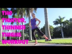 The Tighter, Thinner Thighs Workout - (inner thigh exercises, hip exercises, thigh exercises) - YouTube
