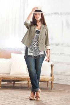Addition Elle offers fashionable and trendy plus size women's clothing, including plus size lingerie, plus size jeans and plus size dresses. Curvy Outfits, Plus Size Outfits, Fall Outfits, Fashion Outfits, Womens Fashion, Fashionable Outfits, Xl Mode, Mode Plus, Moda Plus Size