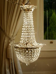Vintage French Empire Crystal Chandelier