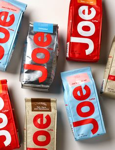 Joe Coffee - Square One Design Cool Packaging, Coffee Packaging, Brand Packaging, Coffee Labels, Corporate Design, Label Design, Branding Design, Joe Coffee, Coffee Girl