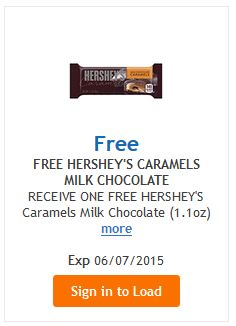 KROGER $$ eCoupon for FREE Hershey's Caramels Milk Chocolate!