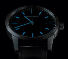 """Maurice de Mauriac L1 Watch Designed By Fabian Schwaerzler - by Ariel Adams - See more photos and read more on aBlogtoWatch.com """"Zurich-based watch maker Maurice de Mauriac has just released the new L1 watch designed by the acclaimed (and award-winning) Swiss industrial designer Fabian Schwaerzler. The result is an attractively modern Bauhaus style watch that combines Swiss style with Germanic functionalism..."""""""