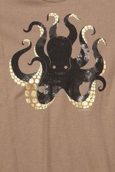"fabionardini: "" Octopus Tank (via Naomi Bardoff) "" Octopus Tank, Cthulhu, Le Kraken, Motif Art Deco, Octopus Tattoos, Arte Sketchbook, Sea Monsters, Sea Creatures, Beautiful Creatures"