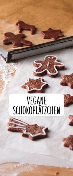 Vegane-Schokoladenplätzchen Vegan Chocolate Cookies Biscuits Christmas Chocolate New Years Delicious Pastries Quickly Easy Baking Oven Sheet Cut Out Shaped Molds Alternative Crispy Delicious Bolo Vegan, Cake Vegan, Vegan Chocolate Cookies, Chocolate Biscuits, Cookies Vegan, Biscuits Végétaliens, Cookies Et Biscuits, Desserts Végétaliens, Patisserie Vegan