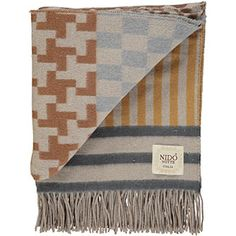 Nido Notte Grey & Brown Patterned Throw