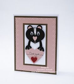 Stampin' Up! Ornament Punch Geraldine Andrade Valentine Skunk