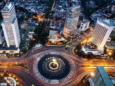 Bundaran HI (HI Roundabout) -> Jakarta -> Indonesia Tower Clock, Sunken City, Yangon, Space Place, World Cities, Urban Design, Shopping Mall, Jakarta, Empire State Building