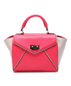 Look at this #zulilyfind! Kate Spade Desert Rose & Perfect Beige Wesley Place Leather Satchel by Kate Spade #zulilyfinds