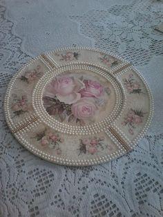 Decoupage, Reproduction Furniture, Decorative Plates, Antiques, Santa, 35, Handmade, Crafts, Home Decor