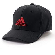 Men's Adidas Stretch-Fit Baseball Cap ($20) ❤ liked on Polyvore featuring men's fashion, men's accessories, men's hats, black, mens baseball caps, mens baseball hats, mens hats, men's brimmed hats and mens ball caps