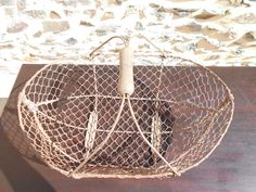 Vintage French Metal Wire Basket by Mayennefinds on Etsy