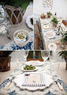 Blue & White French Country Dinner Party… | magnolia rouge