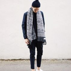 Dipper jaquard sashiko seen on @fredrikrisvik. Avalible online and in selected stores #holzweiler
