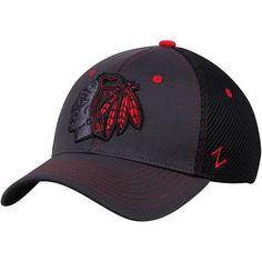 b9706f5c833ed Men s Chicago Blackhawks Zephyr Gray Black Primary Logo Black Light Spacer Mesh  Flex Hat