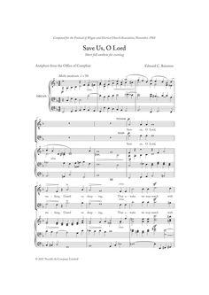 : Save Us, O Lord - Partition Chorale SATB - Plus de 70.000 partitions à imprimer !