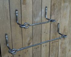 Wrought iron towel bar Bathroom by SiberianWroughtIron on Etsy