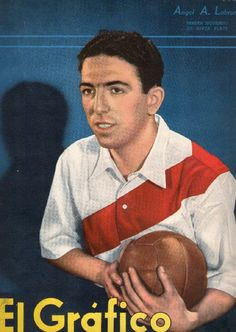 Angel Labruna of River Plate of Argentina in Football Cards, Baseball Cards, Soccer Stadium, Champions, Carp, Retro, World Cup, Nostalgia, Angel