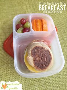 Ditch The Drive Thru Breakfast Sandwich Box! Packed in #EasyLunchboxes