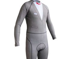 Even if you don't win the race, sporting the Pee-wee Herman cycling suit will still make you a shoo-in for the sharpest dressed award. This stylish and skintight professional grade suit will give you an edge at any race by distracting your fellow bikers with uncontrollable laughter.