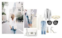 """""""Sans titre #210"""" by amal-stylesmalik ❤ liked on Polyvore featuring moda, LE3NO, Genetic Denim, Marc by Marc Jacobs, Quay y Irene Neuwirth"""